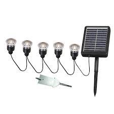 kenroy home 60503 solar light string 5 light set landscape path lights com