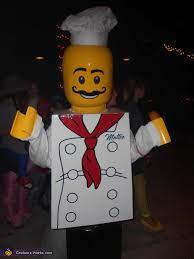 lego minifigure chef diy costume