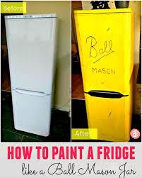 refrigerator paint. before-after-fridge-painted-mason-jar refrigerator paint