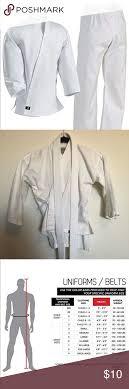 Century Martial Arts Uniform Size Chart Karate Uniform Kids Karate Uniform Comes With Jacket Pants