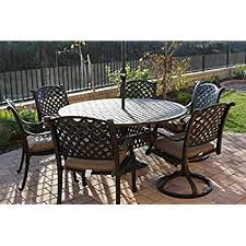 Travira End Table  Powder Coated Aluminum Ash Granite LiteCore Powder Coated Outdoor Furniture