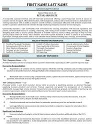 Professional Retail Resume Samples & Templates