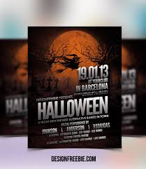 halloween party flyer template halloween flyer psd template