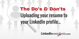 How To Do A Resume Best Should I Upload My Resume To My LinkedIn Profile
