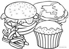 Food is necessary for our lives; Free Printable Food Coloring Pages For Kids