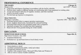 Resume Objective Examples Warehouse Examples Of Resumes