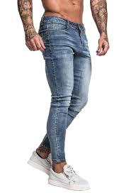 Mens Designer Jeans Size 46 Mens Mid Blue Skinny Fit Jeans
