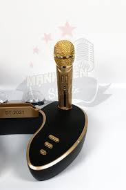 Loa bluetooth cao cấp ST 2021 - Dàn âm thanh karaoke mini kèm 2 đèn led -  Tặng kèm 2 micro không dây