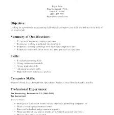 Resume Sample Objectives Objectives For Accounting Resume General