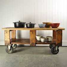 vintage factory trolley coffee table