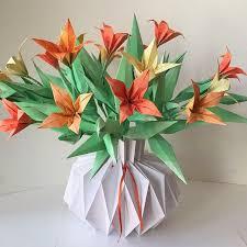 Paper Flower Bouquet In Vase Flower Bouquet In Paper Vase Paper Flowers Paper Flower