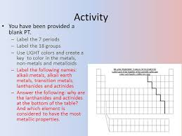 Chapter 10 The Periodic Table. Ch 10 Less. 1 Objective Learn about ...
