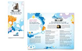 tri fold school brochure template car wash tri fold brochure template word publisher