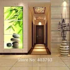 zen wall art garden bamboo modern with clock canvas print 3 panel set sacred geometry geometric