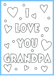 coloring grandpa fathers day coloring pages happy color free printable cards