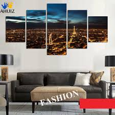 >big size for living room bedroom wall decor home decor night paris  big size for living room bedroom wall decor home decor night paris eiffel tower cityscape canvas