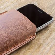 iphone xs case leather sleeve felt lining katastophenschutz red brown suitable crafted