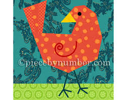Birdie Bird quilt block paper pieced quilt patterns instant & 🔎zoom Adamdwight.com
