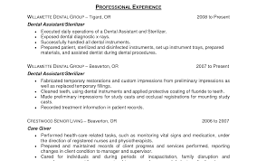 Resume For Dental Assistant Job Resume Dental Assistant Therpgmovie