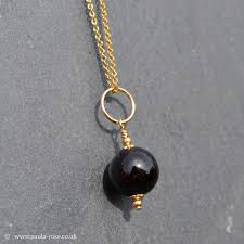 negative energy protection black tourmaline 14 carat gold fill round pendant chain protection grounding stressbusting