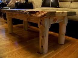 beetle kill pine slab coffee table live