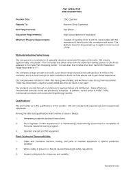 Machinist Resume Example Examples Of Resumes Sample Cnc Samples