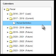 Fiscal Calendar Setup - Infinite Campus