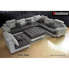 modern couches. 5PC NEW MODERN GRAY MICROFIBER BIG SECTIONAL SOFA SET S150RG Modern Couches E