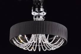 gioiosa 6 light crystal semi flush ceiling light kolarz lighting