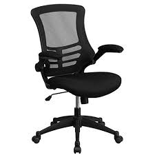 colorful office chairs. Flash Furniture Mid-Back Black Mesh Swivel Task Chair With Flip-Up Arms Colorful Office Chairs