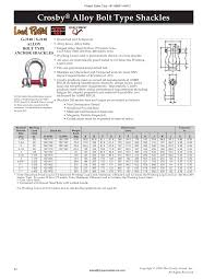 Shackle Load Chart Crosby Shackles From Project Sales Corp Vizag