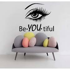 b you tiful beauty spa hair salon decor black sticker vinyl wall art on
