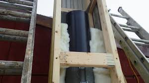 exterior heater system ideas with homemade insulated chimney pipe