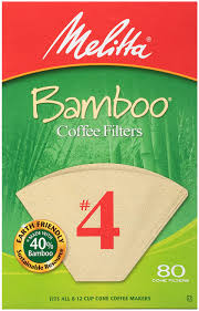 Melitta cone coffee filters natural brown #4 100 count 4. Amazon Com Melitta 4 Cone Coffee Filters Bamboo 80 Count Disposable Coffee Filters Kitchen Dining
