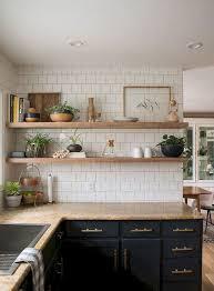 Open Shelf Design For Kitchen 37 Inspiring Diy Small Kitchen Open Shelves Decor Ideas