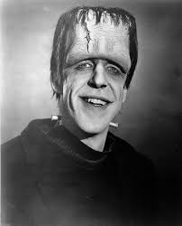 Early makeup test of Fred Gwynn as Herman Munster the Munsters.