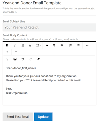 Receipt Email Template Send Year End Tax Receipts To All Your Donors Nonprofit Blog