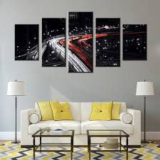 cool gifts for bedroom. Delighful Bedroom Cityscape White And Red Speed Car Light In The Black Background Cool Gift  For Bedroom Decoration In Gifts For O