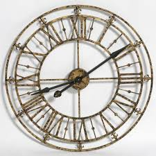 skeleton wall clock gold small all
