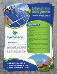 professional flyer designs for a business in flyer design design 9648261 submitted to solar panel cleaning flyer design