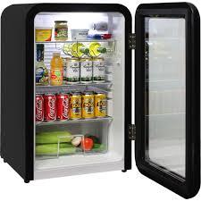 schmick black retro glass door bar fridge 4