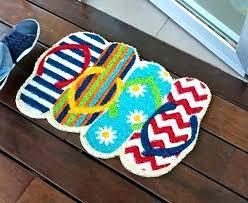 flip flop door mat doormat shaped recycled rug household large rubber mats flops