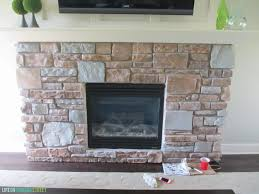 fireplace paint ideasGrayWashed Fireplace Stone Using Annie Sloan Chalk Paint  Life