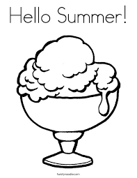 Small Picture Hello Summer Coloring Page Twisty Noodle
