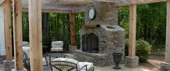 interesting outdoor living space decoration with masonry outdoor fireplace design beautiful ideas for outdoor living