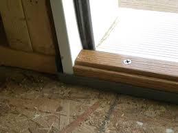 front door thresholdDoor threshold adjustment  Woods Home Maintenance Service