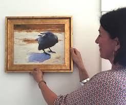 patti-hanging-evelyn-rhodes-crow-in-snow-in-17N-try2 - Taste Artful  Interiors & Design