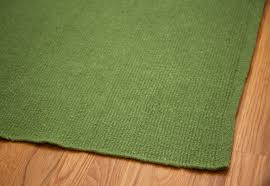 solid green flatweave eco cotton rug 1