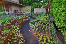 Small Picture Creative Idea Modern Garden Design With Block Raised Garden Bed