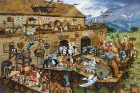it s a zoo in there noah s ark by michael dudash giclee canvas